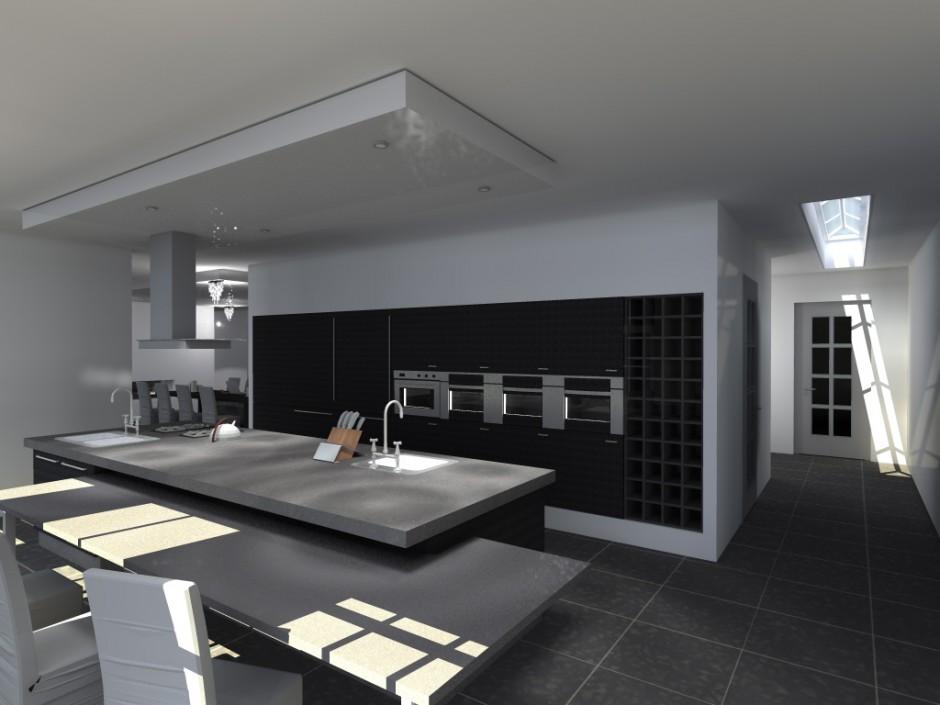 Moderne Keuken In Boerderij : Impressie interieur klassiek landhuis ...