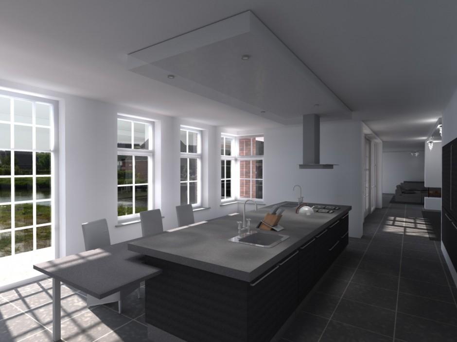 Keuken bruin moderne gehoor geven aan uw huis - Een rechthoekige woonkamer geven ...