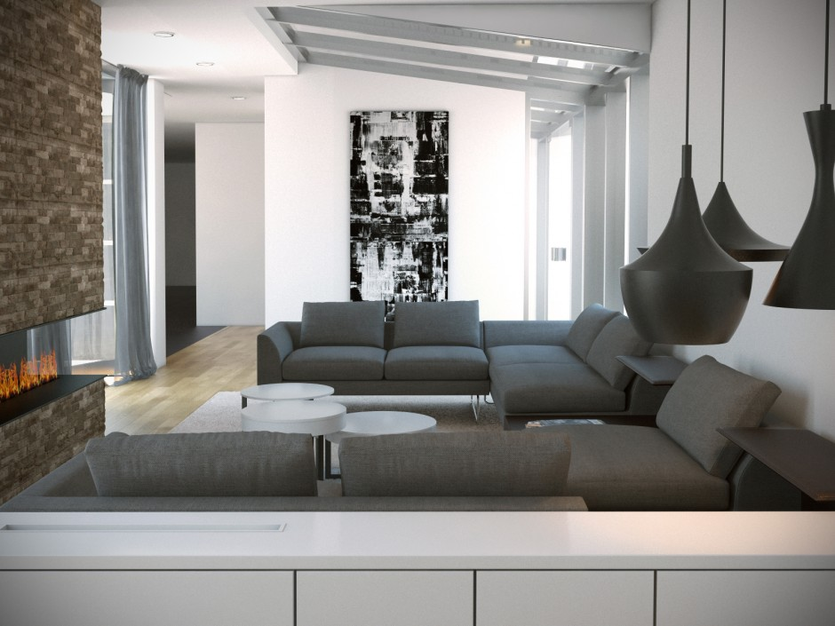 Visualisatie interieur villa bussum next ontwerp for Interieur villa moderne