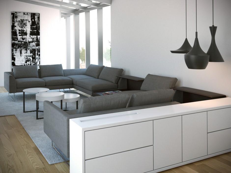 Visualisatie interieur villa bussum next ontwerp schuurwoningnext ontwerp schuurwoning for Interieur villa moderne